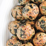 Baked Turkey Meatballs with Spinach Recipe