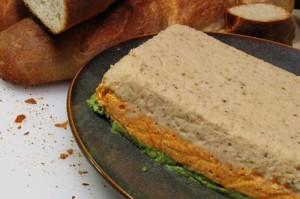 Tricolor Vegetable Pâté and French Baguette