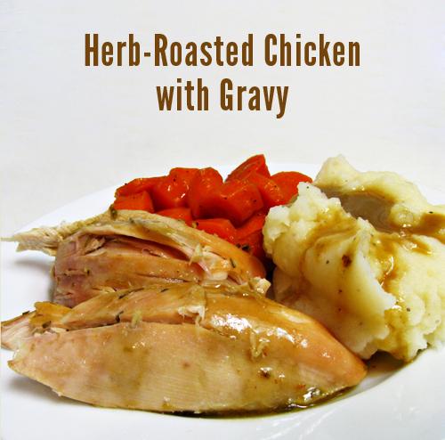 Roasted chicken gravy