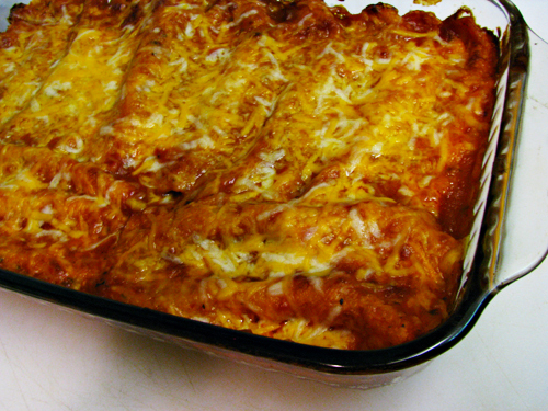 Black Bean and Sausage Enchiladas by Home Cooking Memories