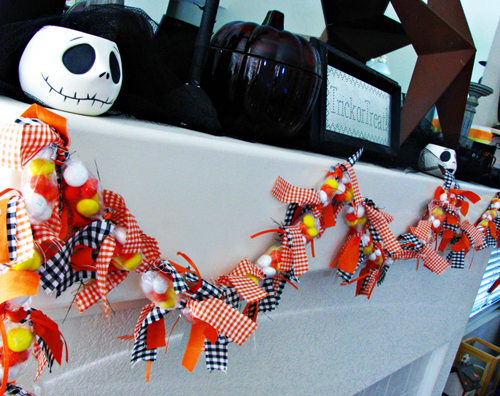 Craft Tutorial: Candy Corn Halloween Garland
