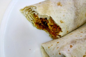 Egg & Soyrizo Breakfast Burritos