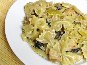 Chicken & Artichoke Pasta with Mushrooms