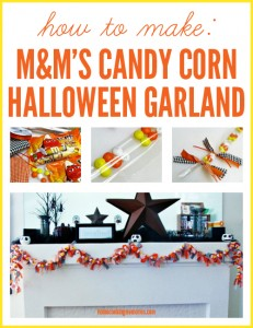 M&Ms Candy Corn Halloween Garland