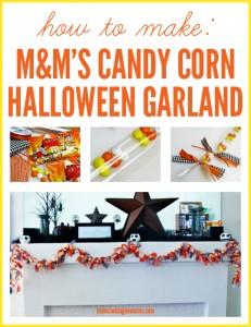 Craft Tutorial: Candy Corn Halloween Garland