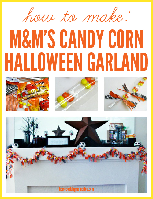 How to Make a M&Ms Candy Corn Halloween Garland