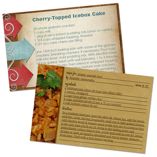 make recipe cards