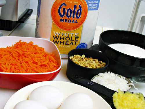 Carrot cake recipe whole wheat flour