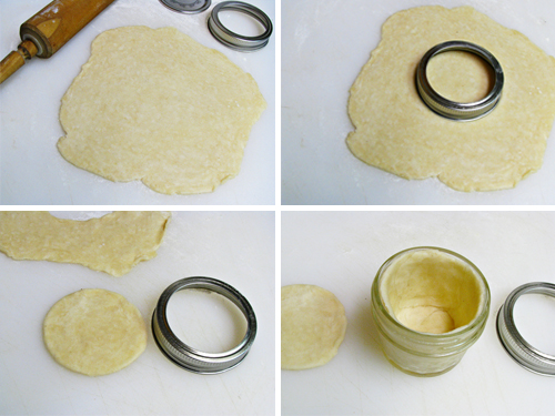 Mini Peach Pies in a Jar -- homemade pie crust