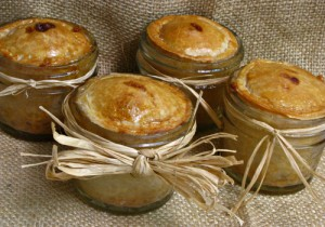 Mini Peach Pies in a Jar