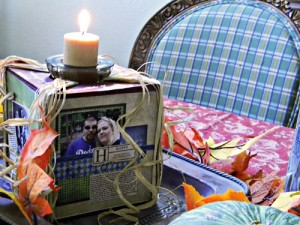 Photo Cube Candle Holder Craft