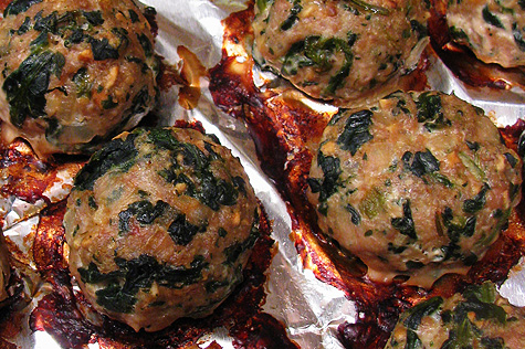 Baked turkey meatballs with spinach 10 ideas for for Baked pasta with meatballs and spinach