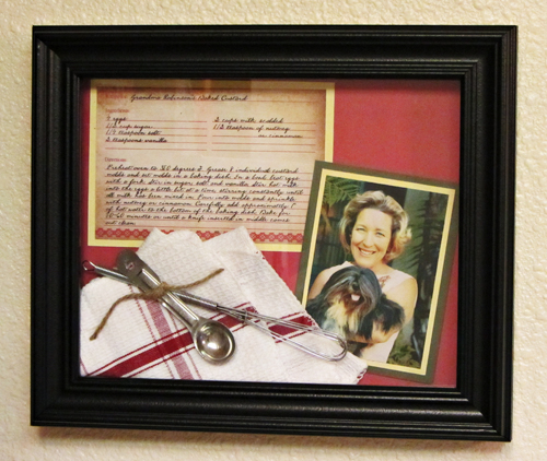 DIY: Family Recipe Shadowbox Frame (make your own shadowbox frame from two $3 frames!!) #craft