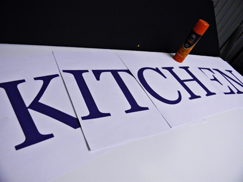 Kitchen Sign Craft Project + Elmer's Giveaway - Home Cooking Memories