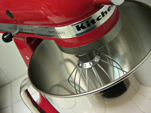 Red Kitchen Aid Stand Mixer On Counter
