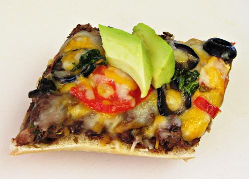 Black bean french bread pizzas home cooking memories of course solutioingenieria Choice Image