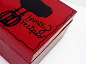 DIY Craft: Decorated Metal Recipe Box