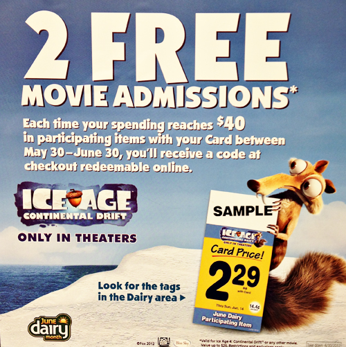 June Dairy Month Safeway Movie Tickets