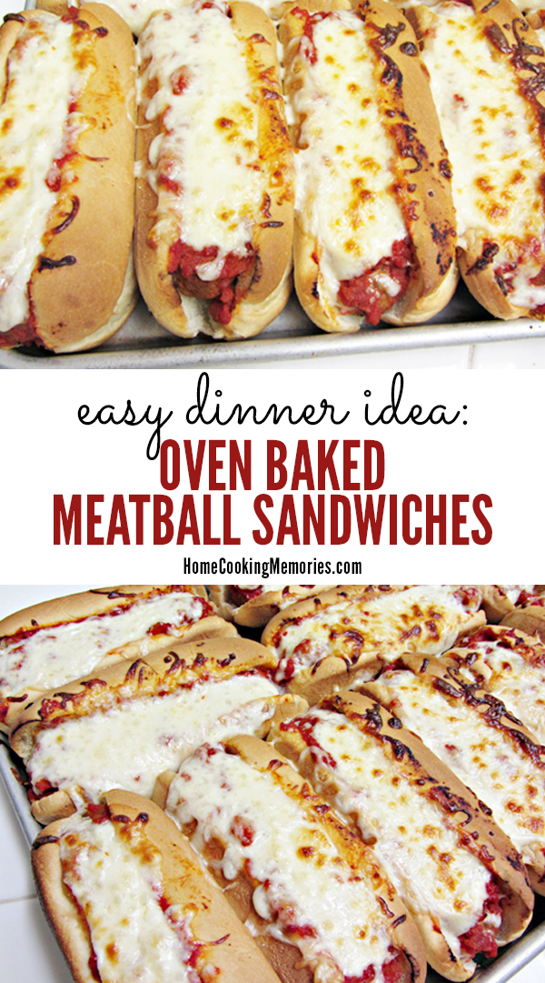 Easy dinner idea oven baked meatball sandwiches recipe these oven baked meatball sandwiches are a perfect easy dinner idea for busy days so forumfinder Image collections