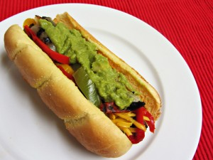 Grilled Fajita Hot Dogs for National Hot Dog Month