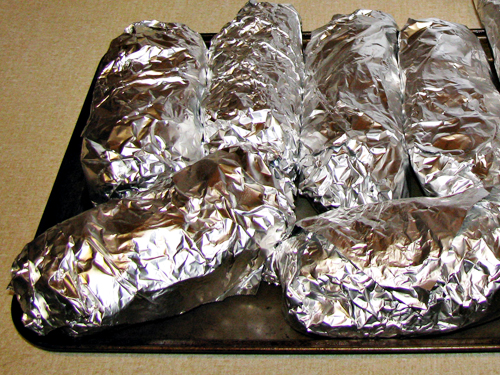 Portable & Easy Dinner Idea: Oven Baked Meatball Sandwiches (individually wrapped in foil)