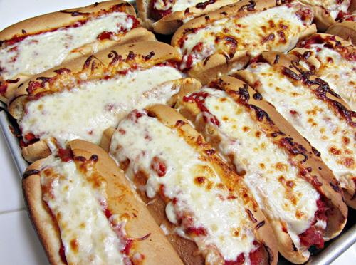 Easy Dinner Idea: Oven Baked Meatball Sandwiches