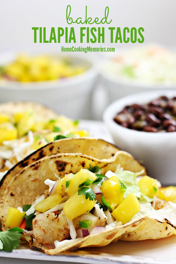 Baked tilapia fish tacos home cooking memories this baked tilapia fish tacos recipe is a healthy and easy dinner that will take 30 forumfinder Choice Image
