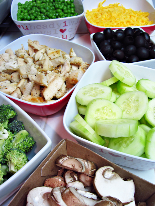 Salad Bar at Home for Dinner - Vegetable Prep