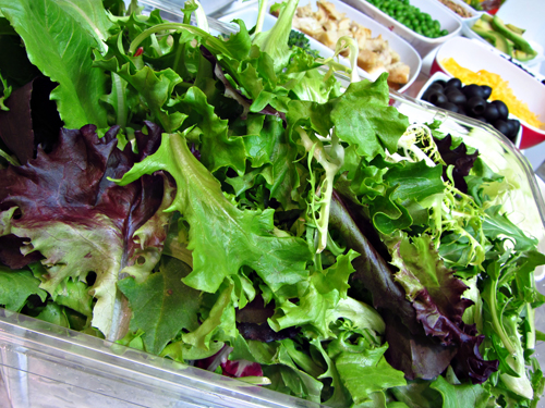DIY Salad Bar at Home for Dinner - Salad Greens