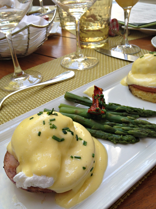 Eggs Benedict at Verandah in Four Seasons Hotel Las Vegas