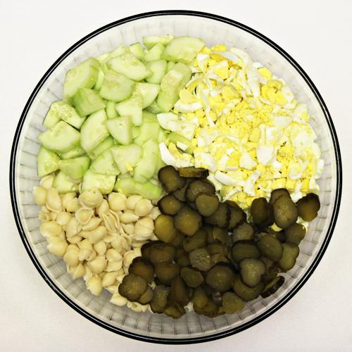 Ingredients for Macaroni Pasta Salad