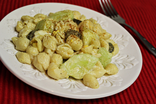 Macaroni Pasta Salad with Cucumbers & Pickles