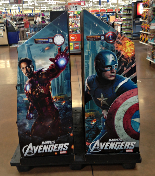 Avengers Augmented Reality Trigger Point - near toys department at Walmart