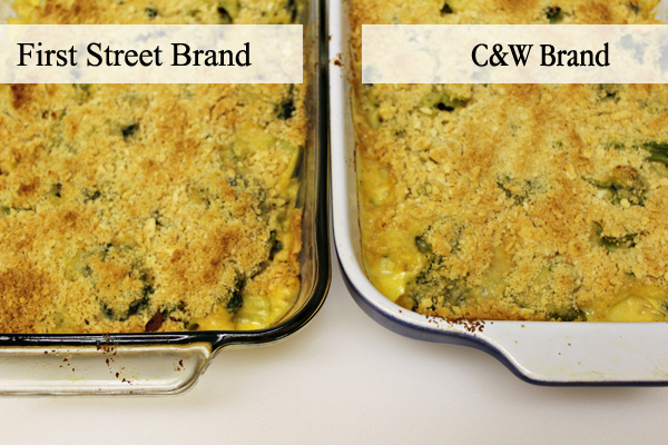 Comparing First Street Frozen Broccoli and C&W Frozen Broccoli