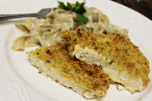 Crispy Garlic-Parmesan Chicken (plus our shredded chicken FAIL) - Home ...