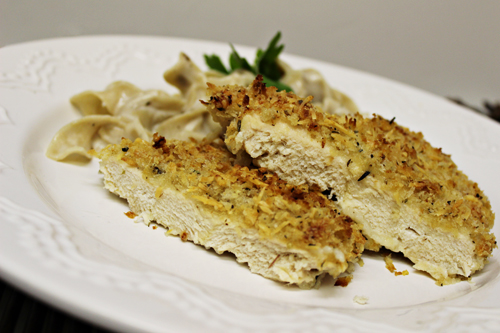 Crispy Garlic Parmesan Chicken with Progresso Recipe Starters