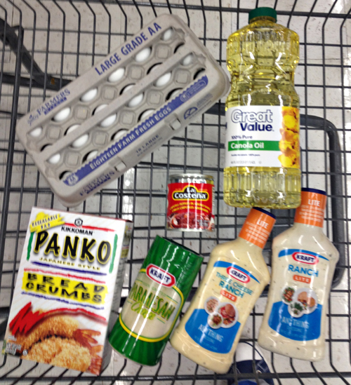 Shopping for fried zucchini and ranch dips