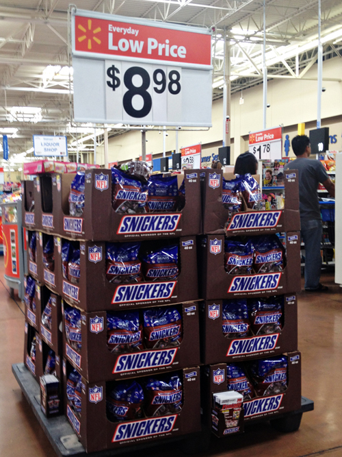 SNICKERS® Brand NFL Minis at Walmart