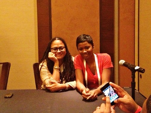 Ava Duvernay and Emayatzy Corinealdi of the film, Middle of Nowhere