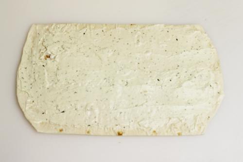 Eyeball Pinwheels: spread with cream cheese ranch mixture