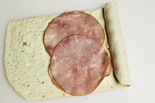 Eyeball Pinwheels: roll tortilla around olives and ham