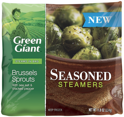 Green Giant Seasoned Steamers Brussels Sprouts