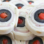 Easy Halloween Party Food - Eyeball Pinwheels