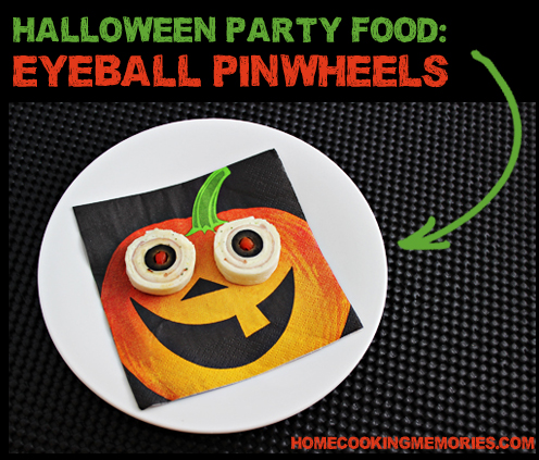 Halloween Party Food - Eyeball Pinwheels