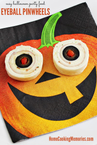 Easy Halloween Party Foods: Eyeball Pinwheels Recipe