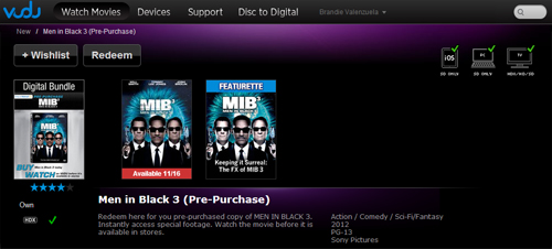 Men in Black 3 Pre-Purchase #SEEMIB3