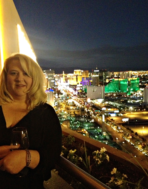 High above the beautiful Las Vegas Strip