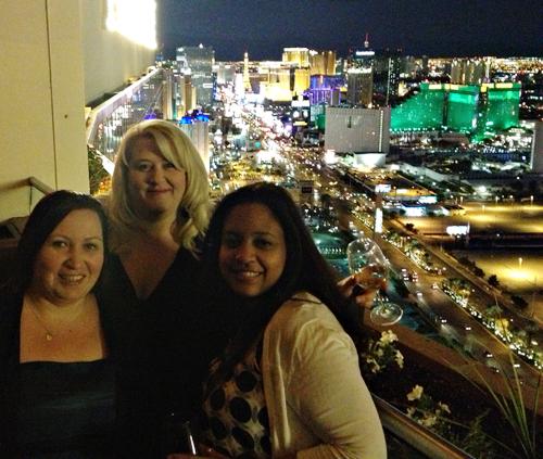 High above the Las Vegas Strip