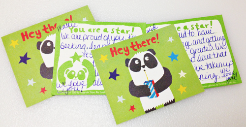 """I'm Proud of You"" cards for the kids"