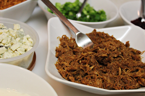 Shredded BBQ Pork for Baked Sweet Potatoes